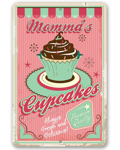 Image of Momma's Cupcakes - Metal Sign.