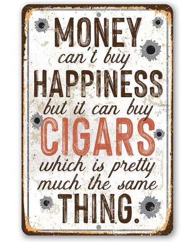 "Image of Money Can Buy Cigars- Durable Metal Sign - 8"" x 12"" or 12"" x 18"" Use Indoor/Outdoor -Great Cigar Bar Decor Lone Star Art 8 x 12"