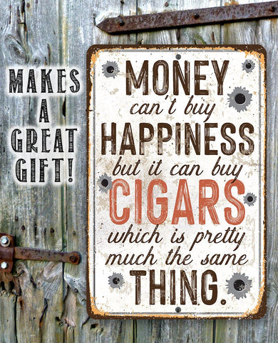 Image of Money Can Buy Cigars - Metal Sign.