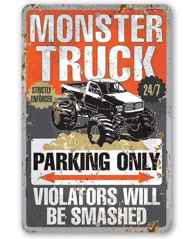 Image of Monster Truck Parking - Metal Sign.
