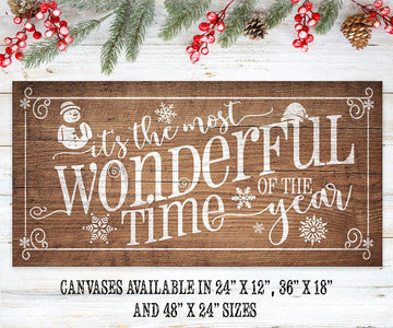 Most Wonderful Time Of The Year - Canvas Lone Star Art