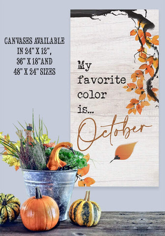 Image of My Favorite Color is October - Canvas Lone Star Art