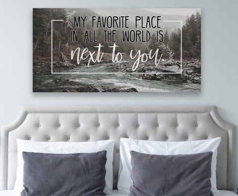 Image of My Favorite Place In All The World - Canvas.