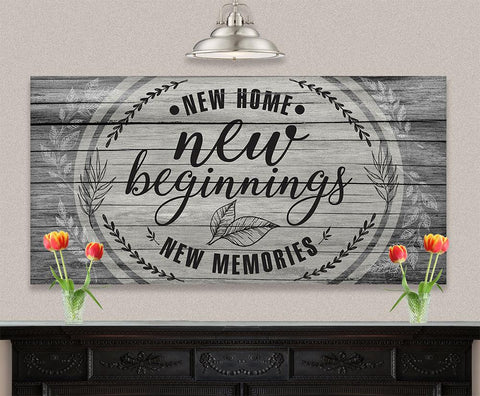 Image of New Home New Beginnings - Canvas.