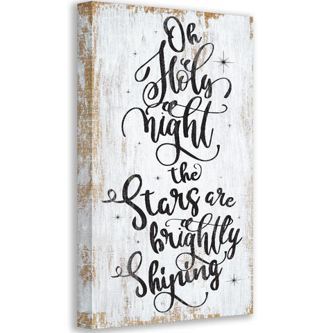 Image of Oh Holy Night - Canvas Wall Hangings Lone Star Art