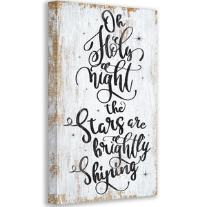Oh Holy Night - Canvas Wall Hangings Lone Star Art