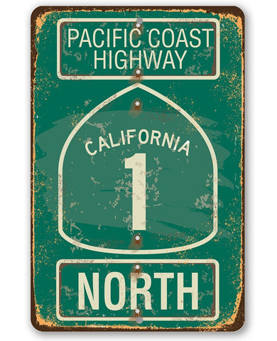 Pacific Coast Highway California 1 - Metal Sign.