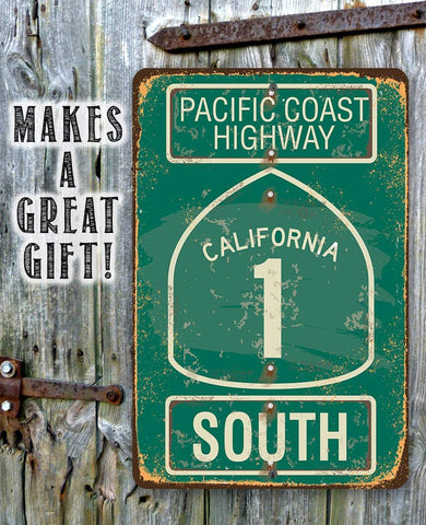 Image of Pacific Coast Highway South - California - Metal Sign.
