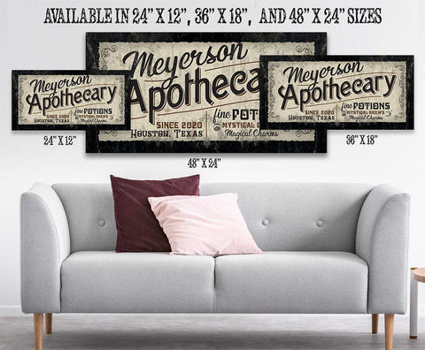 Image of Personalized - Apothecary - Canvas