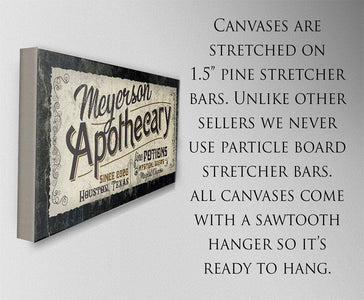 Personalized - Apothecary - Canvas
