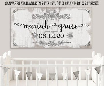 Personalized - Baby Name - Canvas.