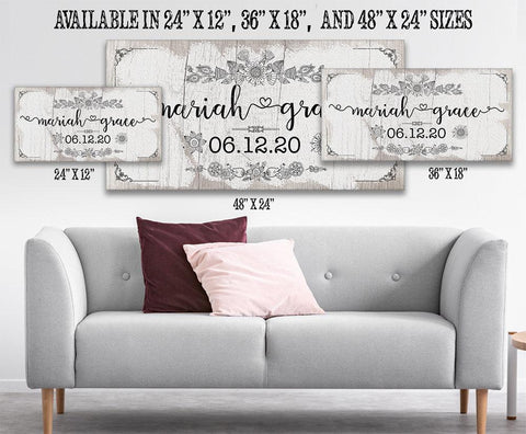 Image of Personalized - Baby Name - Canvas.