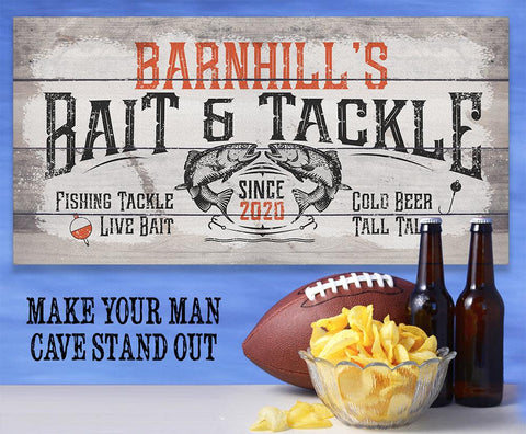 Personalized - Bait & Tackle - Canvas.