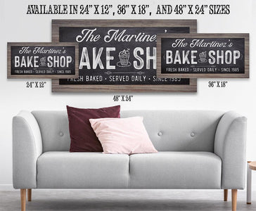Personalized - Bake Shop - Canvas