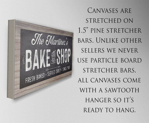 Image of Personalized - Bake Shop - Canvas.