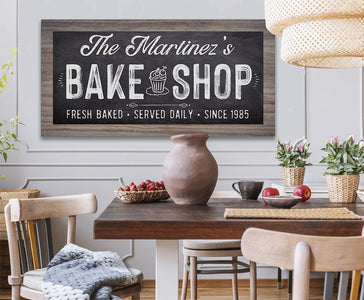 Personalized - Bake Shop - Canvas.