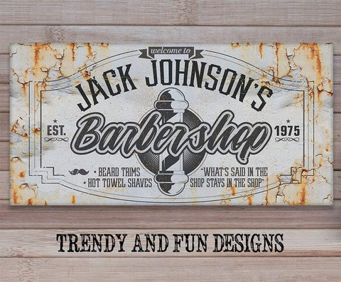 Image of Personalized - Barber Shop - Canvas.