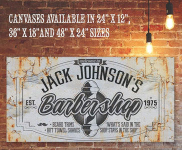 Personalized - Barber Shop - Canvas.