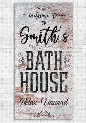 Image of Personalized - Bath House - Canvas.