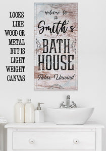 Personalized - Bath House - Canvas.