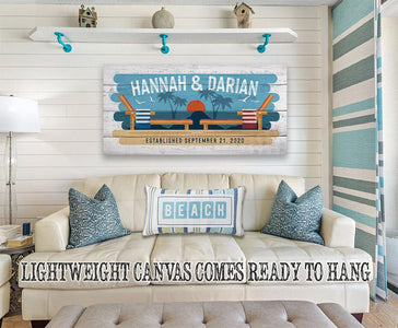 Personalized - Beach Chairs - Canvas Lone Star Art