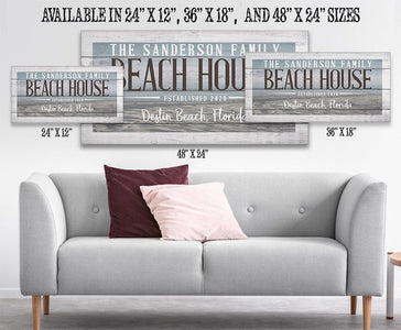 Personalized - Beach House - Canvas