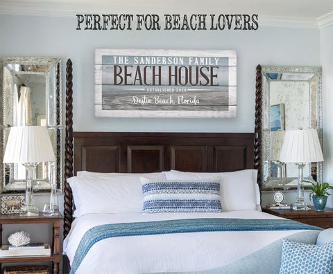Image of Personalized - Beach House - Canvas.