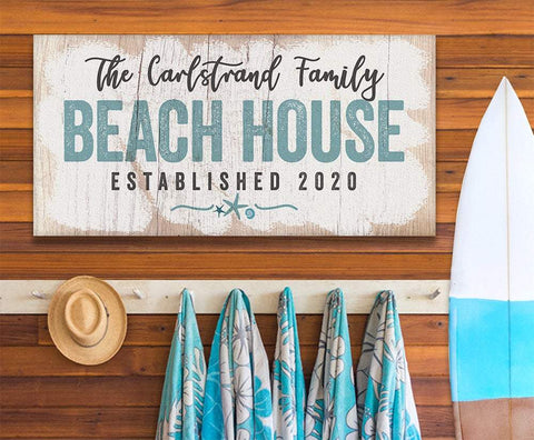 Personalized - Beach House - Canvas.