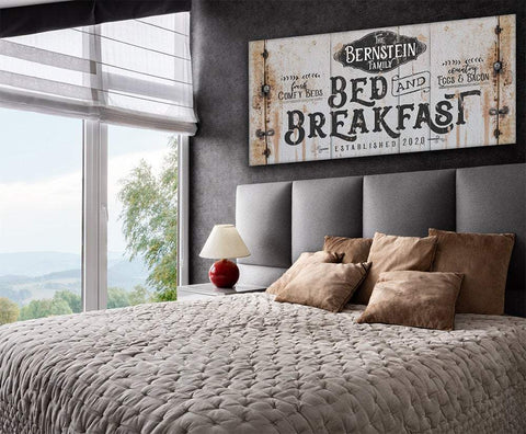 Image of Personalized - Bed Breakfast - Canvas.