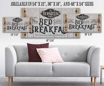 Personalized - Bed Breakfast - Canvas.