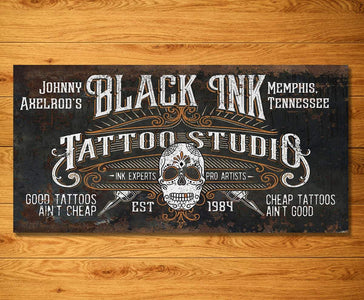 Personalized - Black Ink Tattoo - Canvas