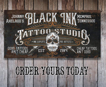 Personalized - Black Ink Tattoo - Canvas.