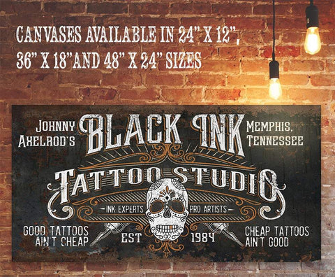 Image of Personalized - Black Ink Tattoo - Canvas.