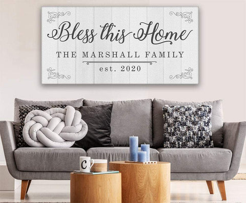 Image of Personalized - Bless This Home - Canvas
