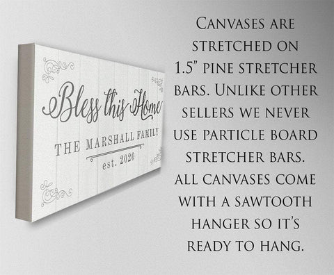 Personalized - Bless This Home - Canvas