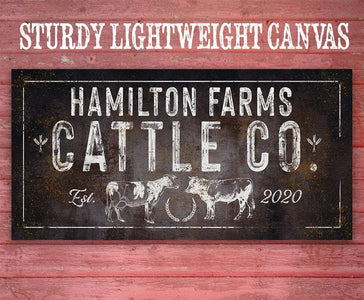 Personalized - Cattle Co - Canvas