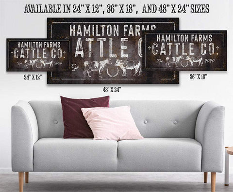 Image of Personalized - Cattle Co - Canvas