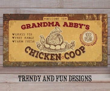 Personalized - Chicken Coop - Canvas