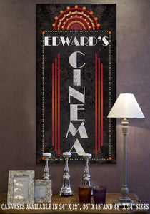 Personalized - Cinema Vertical - Canvas.