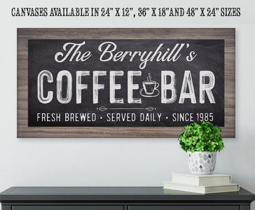 Personalized - Coffee Bar - Canvas.