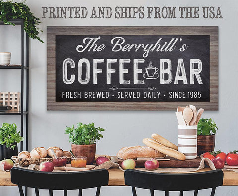 Image of Personalized - Coffee Bar - Canvas.
