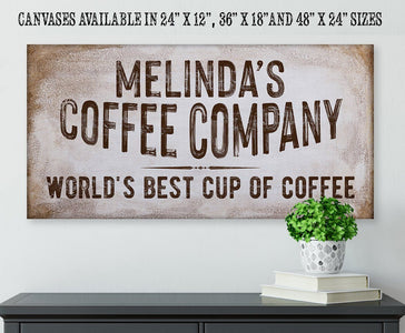 Personalized - Coffee Co - Canvas