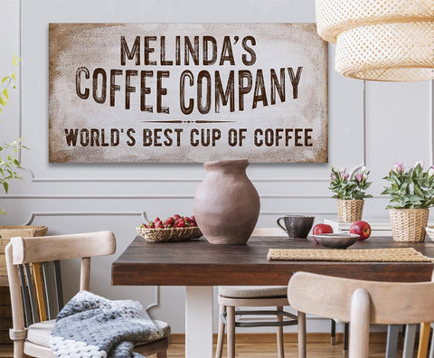 Image of Personalized - Coffee Co - Canvas