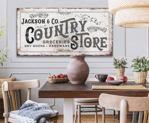Image of Personalized - Country Store - Canvas.