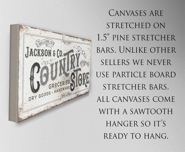 Personalized - Country Store - Canvas.