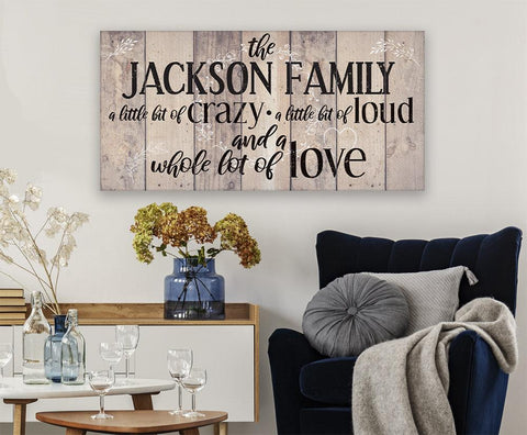 Image of Personalized - Family A Little Bit Of Crazy - Canvas