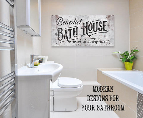 Personalized - Family Bath House - Canvas.