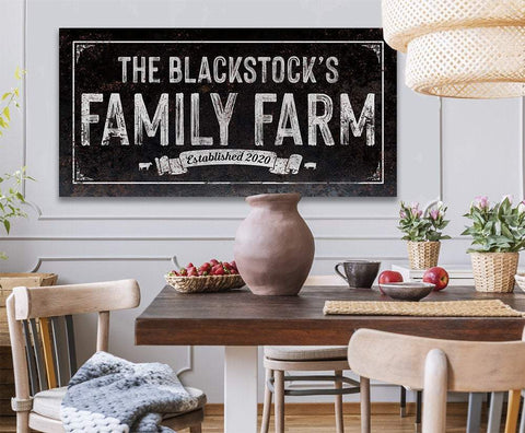 Image of Personalized - Family Farm - Canvas