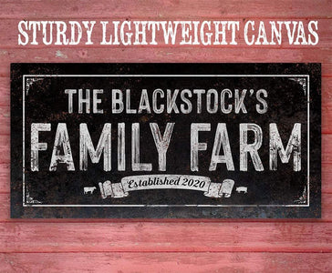 Personalized - Family Farm - Canvas