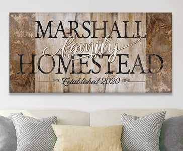 Personalized - Family Homestead - Canvas.